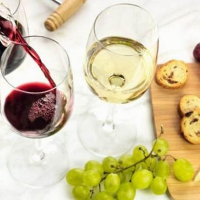 red and white wine tastings
